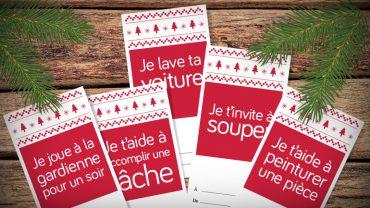 Faire plaisir en restant écolo avec LesPAC! Bons-cadeaux imprimables