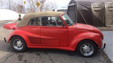 Une Super Beetle décapotable <br>de type Cal Look à vendre sur LesPAC!