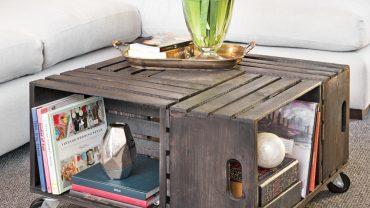 En étapes: une table à café en caisses de bois